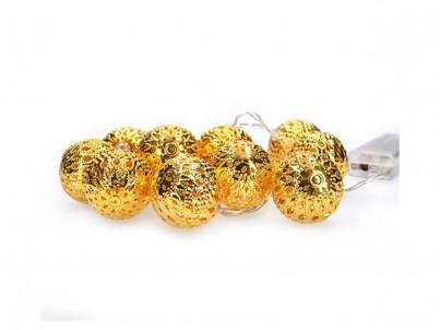 LED vánoční řetěz koule zlaté Solight 1V207-G teplá bílá č.1