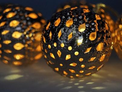 LED vánoční řetěz koule zlaté Solight 1V207-G teplá bílá č.3