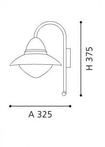 Venkovní nástěnné svítidlo SIDNEY 87105 1x60W E27 se senzorem Eglo skica