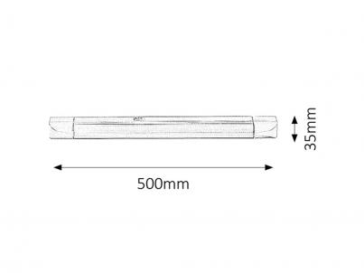 Podlinkové svítidlo Rabalux Band light 2302 bílá č.2