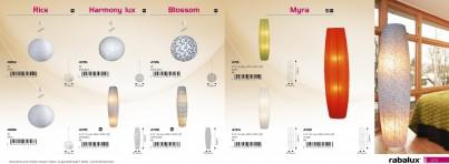 Stropní závěsné papírové svítidlo BLOSSOM 4726 60W E27 bílé+vzor Rabalux č.3