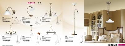 Stropní závěsné svítidlo lustr MARIAN 2705 5x60W E27 bronz Rabalux č.2