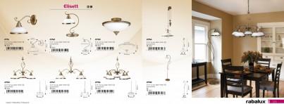 Stropní přisazené svítidlo ELISETT 2759 2x40W E14 bronzové Rabalux - kolekce