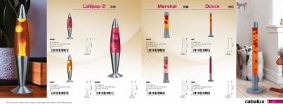Stolní lávová lampa LOLLIPOP2 4106 25W E14 oranž-fialová Rabalux - kolekce
