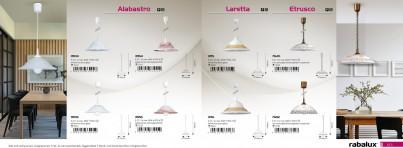 Stropní závěsné kuchyňské svítidlo ALABASTRO 3904 60W E27  Rabalux - kolekce