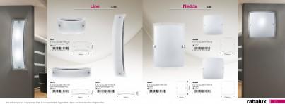 Nástěnné moderní svítidlo NEDDA 3687 1x60W E27 Rabalux - použití