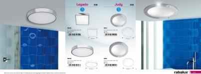 Stropní přisazené koupelnové svítidlo LEGADO 5846 3x40W E27 IP44 Rabalux - použití