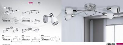 Stropní přisazené svítidlo ELITE 6064 6x40W E14 Rabalux - kolekce