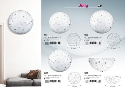 Stropní přisazené svítidlo JOLLY 1862 2x60W E27 zdobené Rabalux, kolekce JOLLY