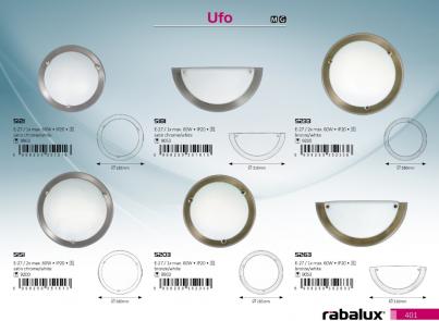 Stropní přisazené svítidlo UFO 5121 1x60W E27 hedvábně lesklý chrom Rabalux - kolekce