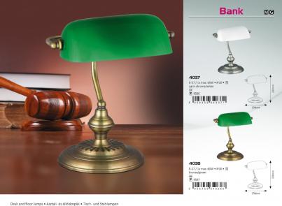 Stolní lampa BANK 4038 60W E27 bronz Rabalux č.4