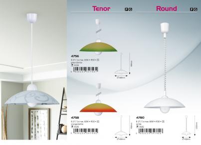 Závěsné stropní svítidlo ROUND 4756 1x60W E27 zelené Rabalux