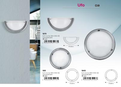 Stropní přisazené svítidlo UFO 5113 1x60W E27 lesklý chrom Rabalux