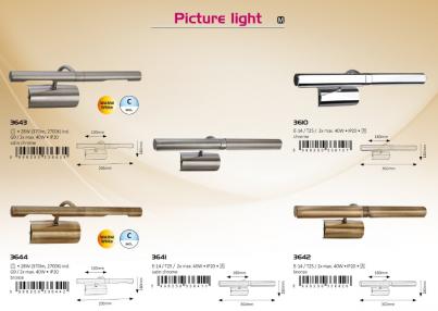 Nástěnné bodové svítidlo PICTURE LIGHT 3644 2x28W G9 bronz Rabalux - použití