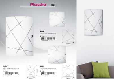 Stropní přisazené svítidlo PHAEDRA 3699 2x60W E27 vzor Rabalux - kolekce