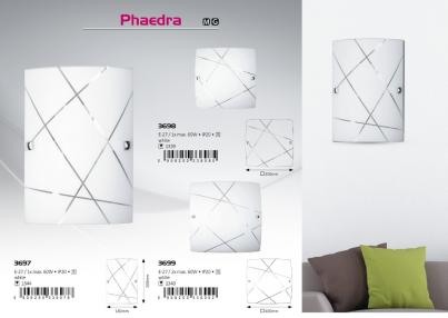Nástěnné svítidlo PHAEDRA 3697 60W E27 vzor Rabalux - použití