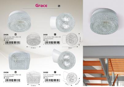 Stropní přisazené svítidlo GRACE 2431 60W E27 klasik Rabalux č.2