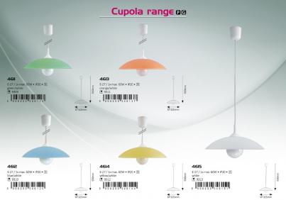 Závěsné stropní svítidlo CUPOLA 4614 1x60W E27 žluté Rabalux