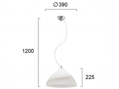 Závěsné svítidlo Viokef Cameron 3084200 bílá č.2